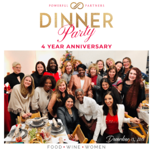 photo of group of women at Powerful Partners Dinner Party December 2019